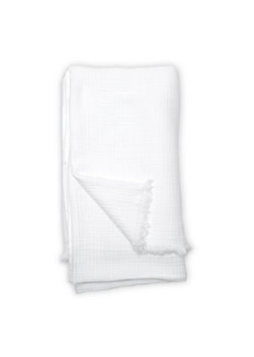 Crinkle Bed Cover White