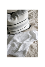 Crinkle Bed Cover White Queen