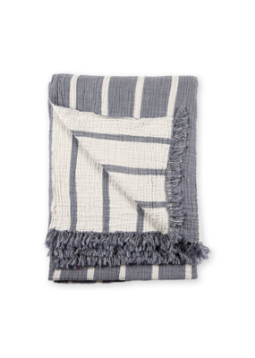 Crinkle Striped Throw Astral