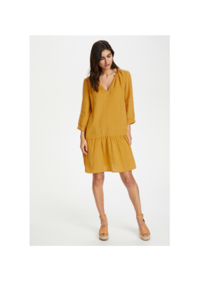 Part Two Chania Linen Dress in Golden Spice by Part Two