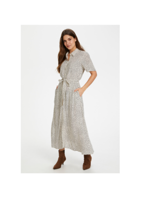 Part Two Carma Dot Print Dress in Eggnog by Part Two