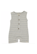 Me & Henry Stripe Playsuit Grey & White by Me & Henry