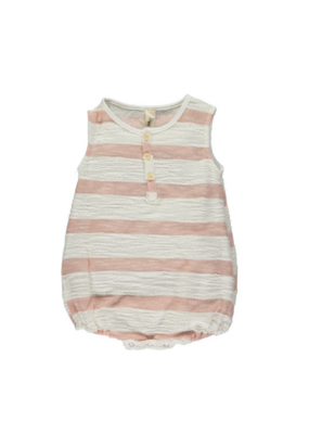 vignette Bryn Bubble Romper in Rose Stripe by Vignette
