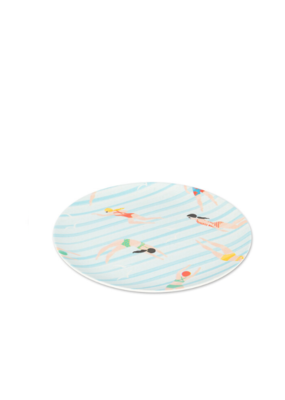 """Swimmer Small Plate 8"""" Set/4"""