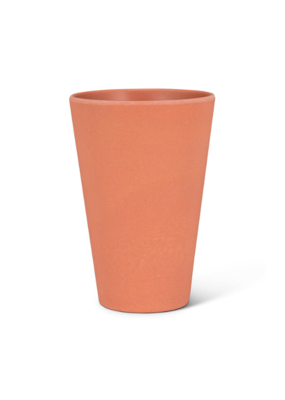 """Large Tumbler 5""""H in Coral"""