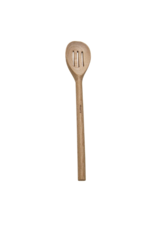 david shaw French Slotted Wood Spoon 12""