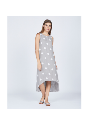 pistache Linen High Low Dress by Pistache