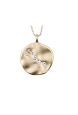 PILGRIM Gold-Plated Vintage-Inspired Zodiac Necklace by Pilgrim