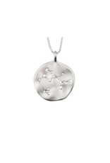 PILGRIM Silver-Plated Vintage-Inspired Zodiac Necklace by Pilgrim