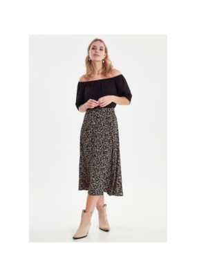b.young Isole Skirt in Black Flower by b.young