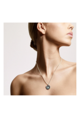 PILGRIM Joy Necklace in Silver & Green by Pilgrim