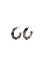 PILGRIM Adea Earring in Silver & Brown by Pilgrim
