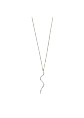 PILGRIM Beauty Serpent Necklace in Silver-Plated by Pilgrim
