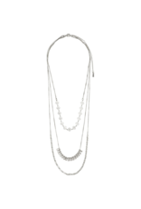 PILGRIM 3-Layer Joy Necklace in Silver-Plated by Pilgrim