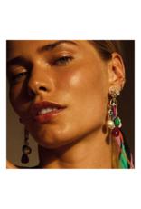 PILGRIM Frigga Earring in Gold-Plated Multi-Coloured by Pilgrim