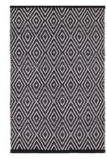Dash & Albert Dash & Albert Diamond Indoor/Outdoor Rug in Black & Ivory