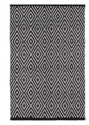 Dash & Albert Dash & Albert Indoor/Outdoor Diamond Rug in Black & Ivory