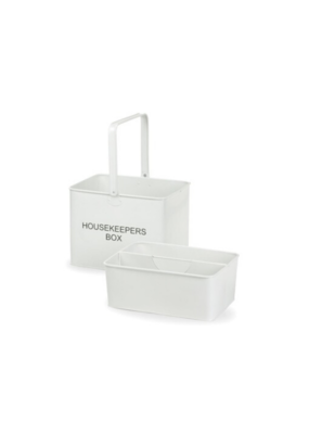 Decorsense White Enamel Housekeepers Box