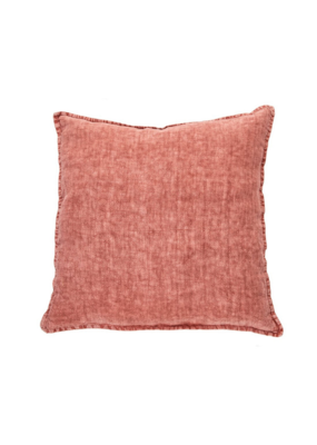 Linen Euro Cushion Stone Wash Raspberry