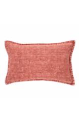 Linen Cushion Stone Wash Raspberry