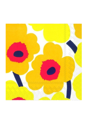 marimekko Napkin UNIKKO yellow Cocktail