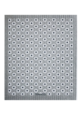 Ten & Co. Swedish Sponge Cloth Starburst Grey