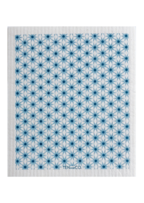 Ten & Co. Swedish Sponge Cloth Starburst Blue & White