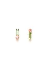 Lover's Tempo Lover's Tempo Bon Bon Climber Earrings Green & Pink