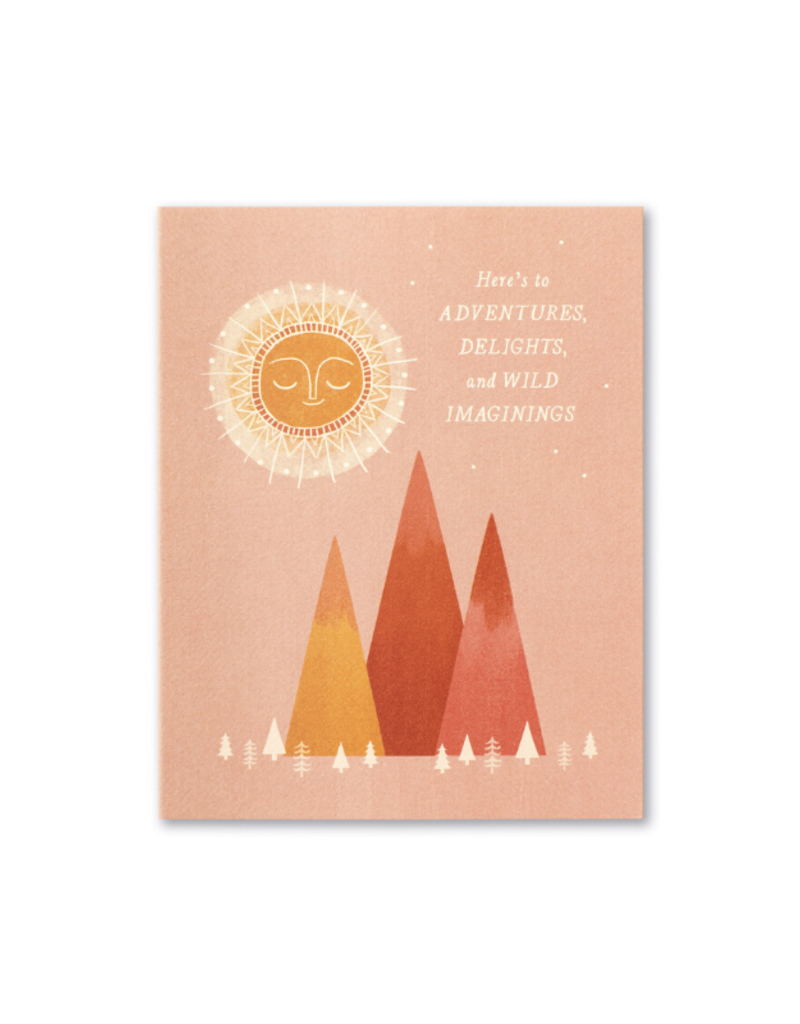 Here's To Adventures, Delights Card