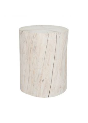 style in form Salish Stump End Table 21""