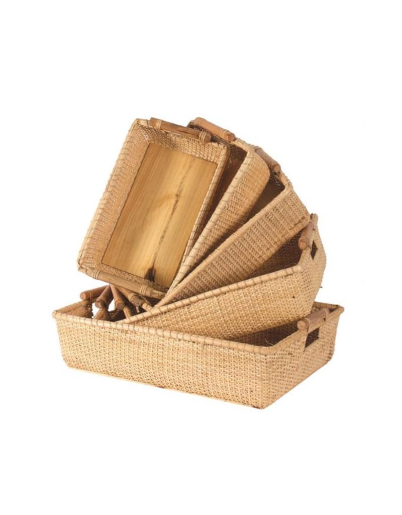 Natural Bamboo Basket Tray