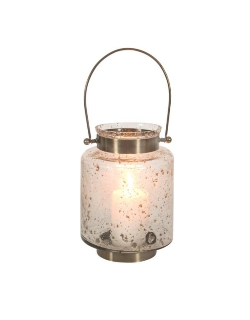 Glass Lantern with Speckles
