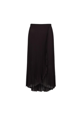 Plisse Skirt in Black by EsQualo