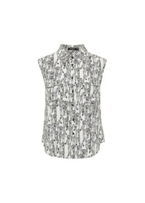 Soaked in Luxury Serras Shirt in Zebra Animal by Soaked In Luxury