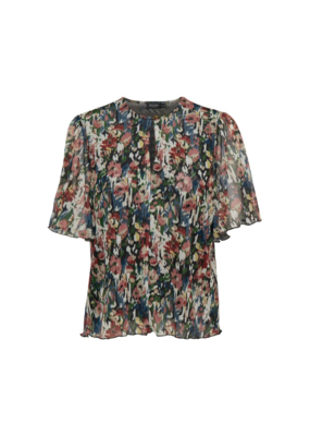 Soaked in Luxury Poppie Top in Multi Colour Floral by Soaked In Luxury
