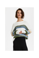 Soaked in Luxury Knitted Panna Sweater in Whisper White by Soaked In Luxury