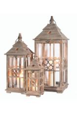 Wood Lantern Brown