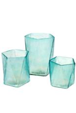 Aqua Prism Votive Large