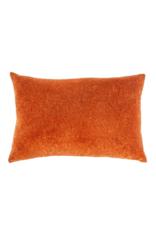 Printed Rust Velvet Pillow