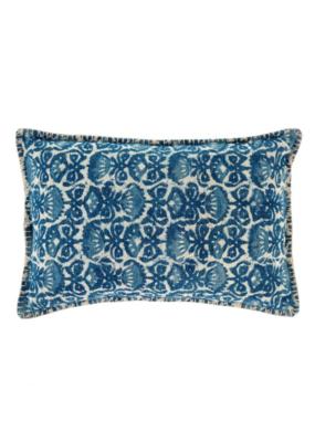 Indigo Iris Pillow