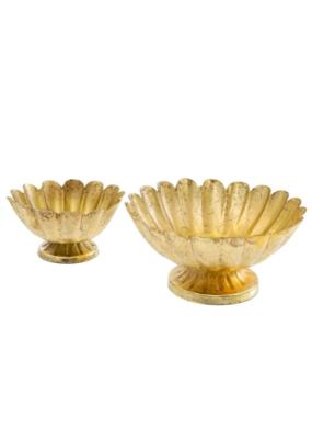 Gold Floralis Metal Urn Bowl