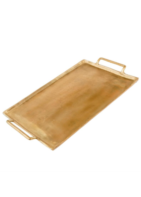 Large Brass Metal Coffee Table Tray