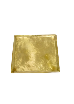 Hammered Square Brass Plate