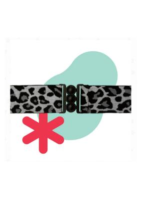 Unbelt in Snow Leopard & Matte Black
