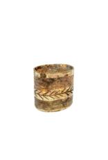 Indaba Trading Irina Etched Mercury Glass Vase