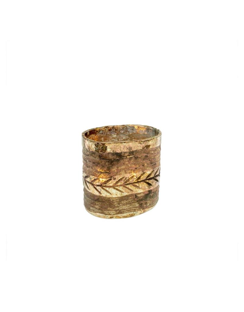 Irina Etched Mercury Glass Vase