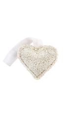 Beaded Heart White Small