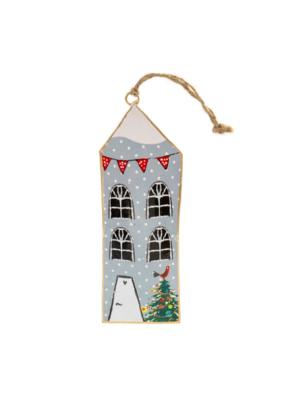 Grey Tinsletown House Ornament