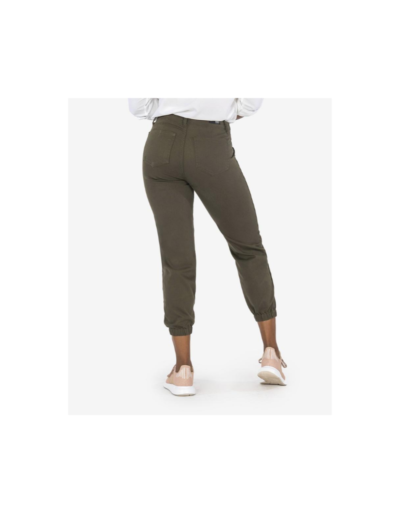 Kut from the Kloth Frida High Rise Jogger in Army Green by Kut from the Kloth