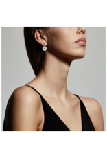 PILGRIM Fia Silver-Plated Crystal Earrings by Pilgrim